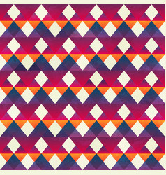 red zigzag seamless pattern vector image