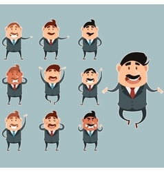 Set of business men3 vector image