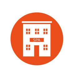 spa building vector image