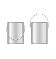 Steel can bucket set vector