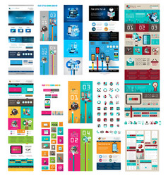 SuperWebTEmplateSET vector image vector image