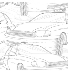 taxi seamless pattern vector image vector image