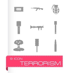 terrorism icons set vector image vector image