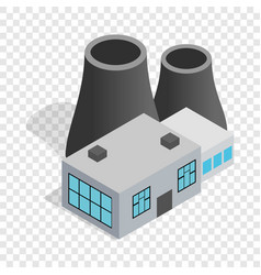 Thermal power station isometric icon vector