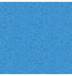 Thin finance line money banking seamless blue vector
