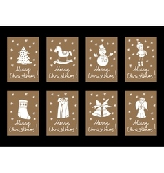 Vintage Christmas and New Year card vector image