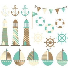 Vintage nautical vector
