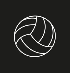 Volleyball ball icon on white background vector