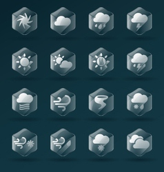 Weather Glass Icons and Symbols vector image vector image