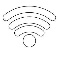 wifi signal icon in monochrome silhouette vector image