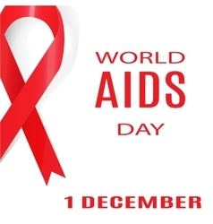 World aids day 1 december vector