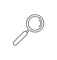 Outline loupe icon vector