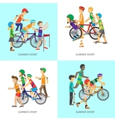 Summer sport concepts in flat design vector