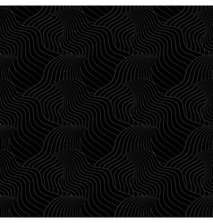 Color seamless abstract hand-drawn pattern waves vector