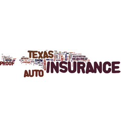 Texas auto insurance faq text background word vector
