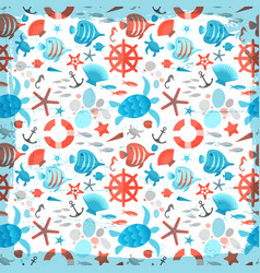 Sea seamless abstract pattern vector