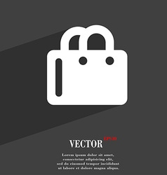 Shopping bag icon symbol flat modern web design vector