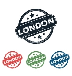 Round london city stamp set vector