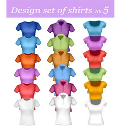 Color men and women polo shirt vector