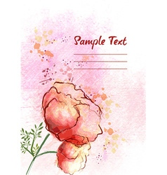 Background with floral vector