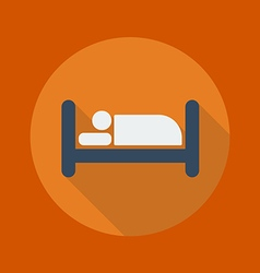 Travel flat icon hotel vector