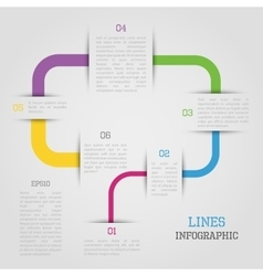 Lines infographic vector