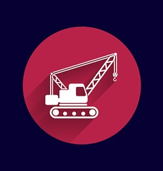 Building crane icon button logo symbol concept vector