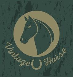 Horse vintage logo vector