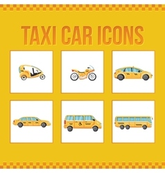 Set of taxi icons for web sites presentations vector