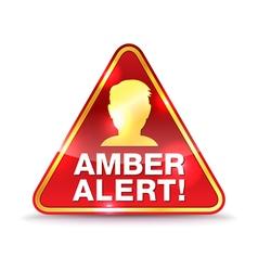 Amber alert icon vector