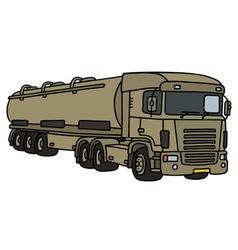 Big military tank truck vector image vector image