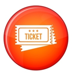 Circus show tickets icon flat style vector
