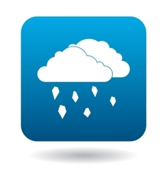 Clouds and hail icon in simple style vector