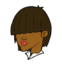Comic cartoon fashion haircut vector