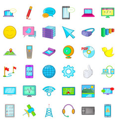 Computer mouse icons set cartoon style vector