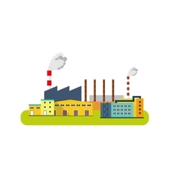 Factory Icon industry concept flat vector image