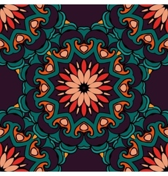 Festive geometric floral seamless pattern vector