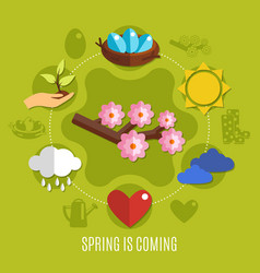 flat spring easter concept vector image vector image