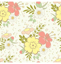 floral saemless vector image vector image