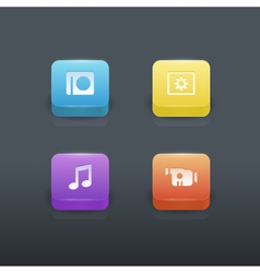 Gradient buttons set vector image