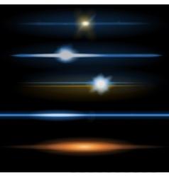 Lens flares orange and blue vector