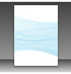New folder template - blue lines frame vector image