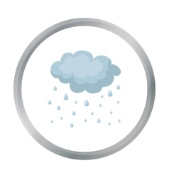 Rain icon in cartoon style isolated on white vector image vector image