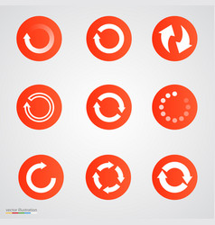 refresh loading or repeat arrow set vector image