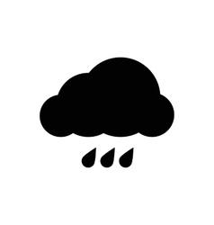 Simple cloud icon vector image