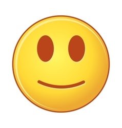 Smiling emoticon of emoji vector image