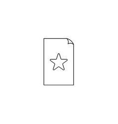 starred file icon vector image