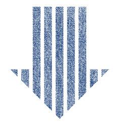 Stripe arrow down fabric textured icon vector