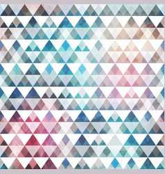 triangle pattern with grunge effect vector image