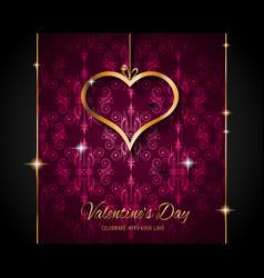 valentines day restaurant menu template vector image vector image